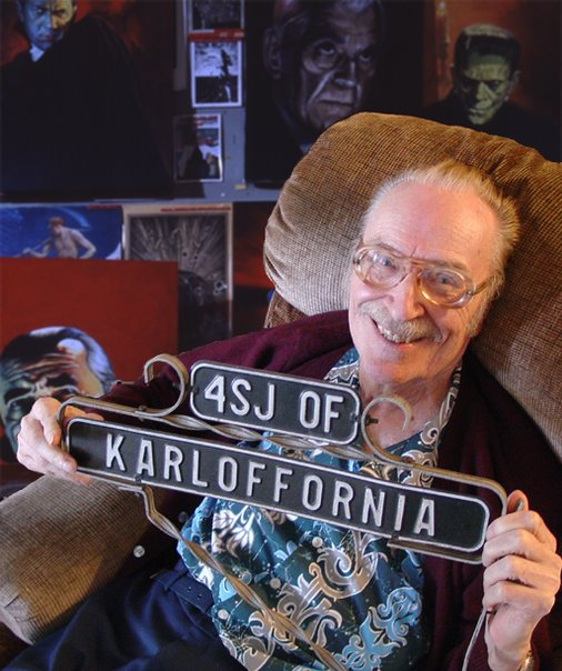 Forrest J Ackerman, aka 4SJ of Karloffornia, the Ackermonster