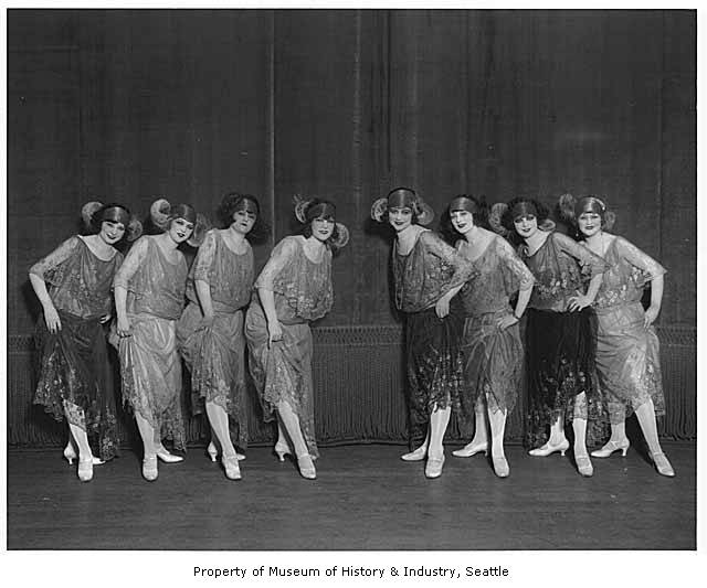 Chorus Girls at the Palace Hip, Seattle, 1922